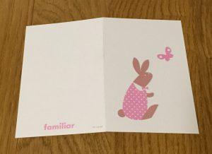 ファミリア メッセージカード