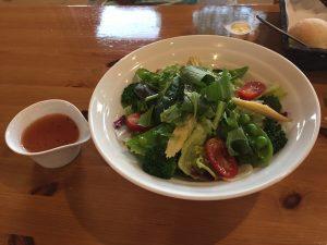 軽井沢ガーデンテラス アサマファームヴィレッジ 夕飯 ディナー 写真 ブログ サラダ