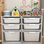 ニトリのトロファスト風でおもちゃの収納。組み立てから活用法をブログでご紹介♪