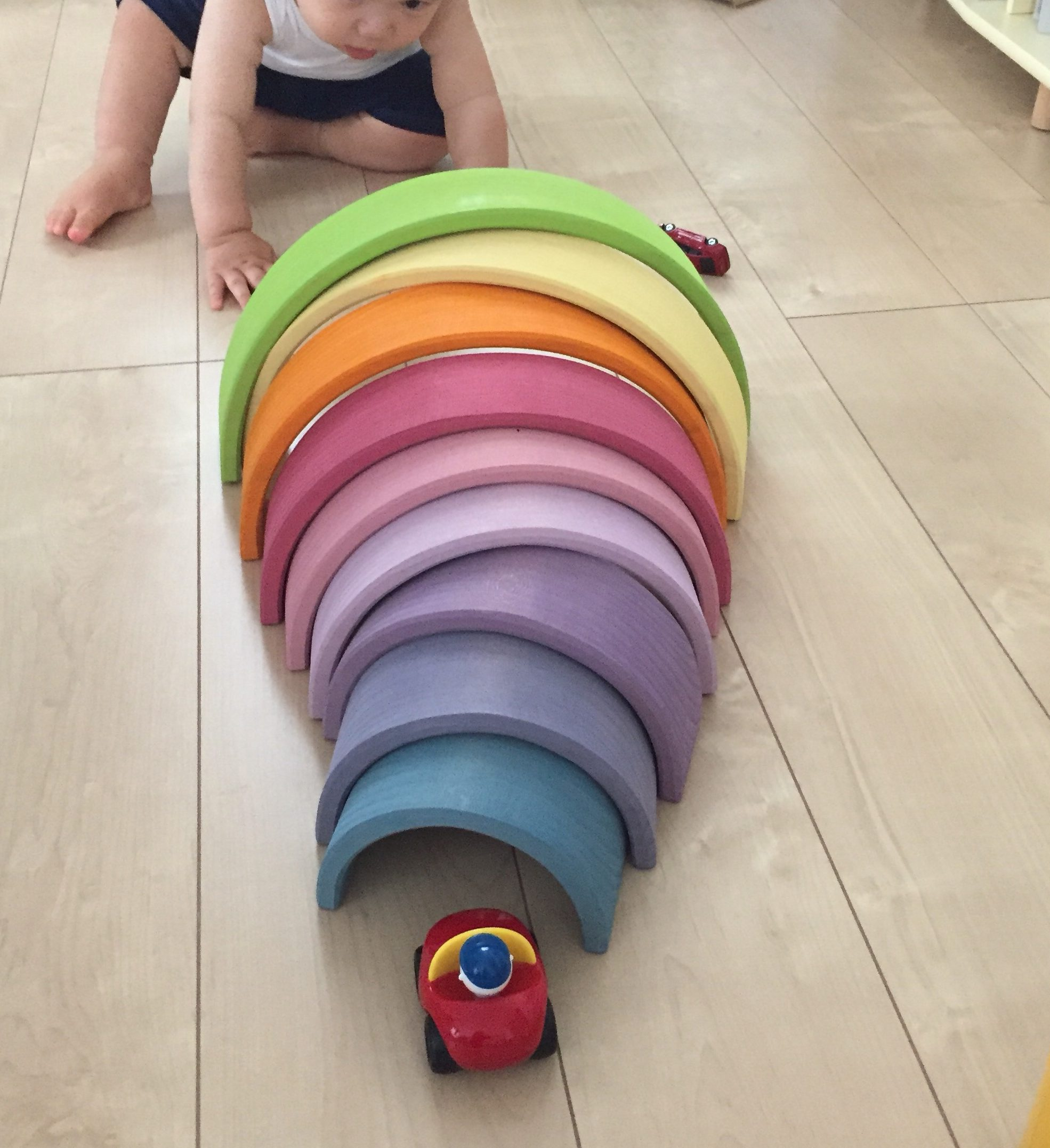 グリムス社 アークレインボー アーチレインボー 遊び方 1歳児 2歳児 3歳児