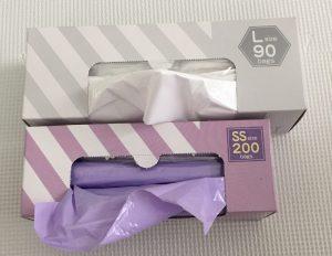 消臭袋 Lサイズ LLサイズ SSサイズ Sサイズ Mサイズ 比較 ブログ