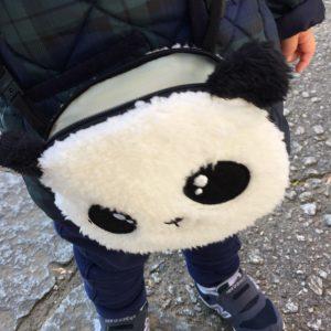 お散歩 便利グッズ 幼児 ベビー 1歳児 2歳児 どんぐり入れ ブログ パンダポシェット