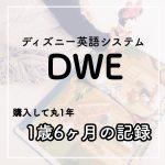 【1歳6ヶ月】DWE(ディズニー英語システム)を購入して1年使った成果と正直な感想。