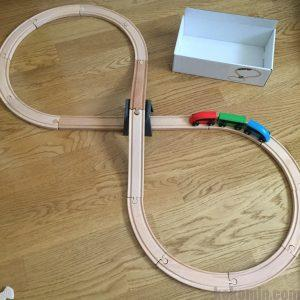 イケア IKEA 木製レール プラレール 比較 線路 列車