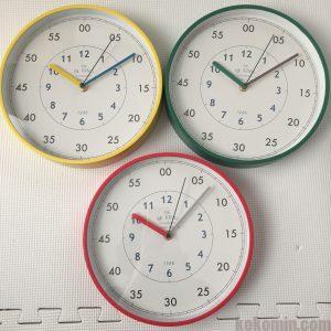 スリーコインズ スリコ 掛け時計 知育時計 ふんぷんくろっく ふんぷんクロック